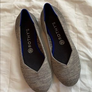 Rithy's Retired Taupe Heathered Grey flat
